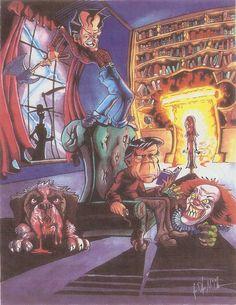 Stephen King Art by Jasonaut @ deviantart Misery Stephen King, Stephen King Novels, Scary Movie Characters, Scary Movies, Book Characters, Horror Icons, Horror Films, Carrie, Steven King