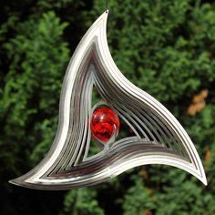 Wind chime with red glass ball Wind Sculptures, Glass Ball, Red Glass, Suncatchers, Wind Chimes, Html, Deco, Sun, Hamburg