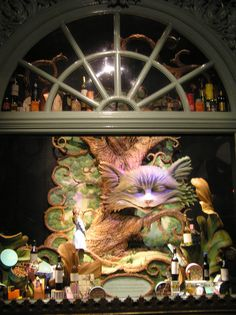 Alice in Wonderland window displays at Fortnum and Mason