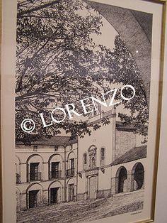 Almansa Santuario de la Virgen de Belén  Dibujo a plumilla sobre papel
