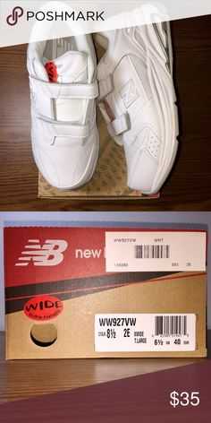 NWT New Balance 927 Women's Velcro Size 8.5 Brand new!  NWT. Never been worn!  New Balance Velcro Women's Size US 8.5, 2E, Extra wide and In perfect condition!  A friend ordered far too many after finding them incredibly comfortable. She has enough pairs to last for a few years. New Balance Shoes Sneakers