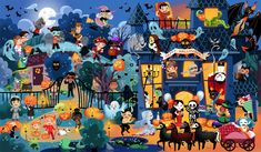 Cherche et trouve Happy Halloween – Léa Fabre – Illustration – kindergarden Image Halloween, Theme Halloween, Happy Halloween, Hidden Pictures Printables, Mobiles For Kids, Picture Writing Prompts, Cartoon Art Styles, Amazing Art, Art For Kids