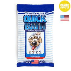 "Quick Bath Dog Wipes For Small Dogs, 10-count 5""x10"" dog wipes"