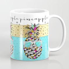 Pineapple with sunglasses Mug