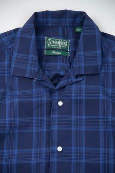 Blue On Blue Indigo Check Camp Shirt by Gitman Vintage – The Bureau Belfast