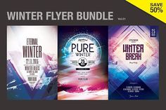 cool SALE%50 - Winter Flyer Bundle Vol.01 CreativeWork247 - Fonts, Graphics...