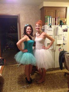 Betty and Wilma tutu costumes