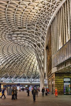The ceiling at Kings Cross Station in London, England looks incredible.