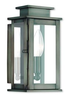 Livex Lighting - 20191-29 - One Light Wall Lantern - Vintage Pewter The Princeton collection is a fresh interpretation of the classic English pocket lantern. Hand crafted solid brass, Princeton fixtures are built for lasting beauty. This outdoor wall light features a vintage pewter finish and clear glass. This old world charm is built to last.