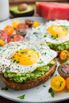 Avocado Toast with Fried Egg Mashed Avocado, Avocado Toast, Egg Toast, Chilli Flakes, Fresh Coriander, Recipe Search, Just Cooking, Good Things, Sour Cream
