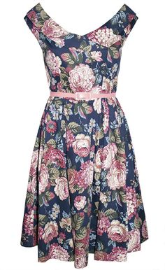 Coco Navy Floral Dress