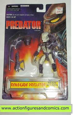 aliens vs predator kenner RENEGADE PREDATOR 1996 KB TOYS movie moc mip mib action figures