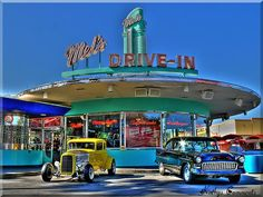 drive-in burgers and malts, then we cruise the boulevard or Main Street