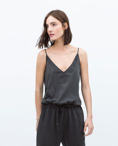 ZARA - WOMAN - FADED JUMPSUIT WITH THIN STRAPS