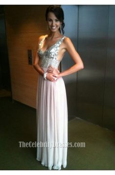 Jana Peterson Sequins V-Neck Prom Dress Evening Formal Gown