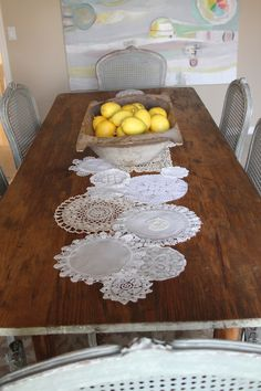 must do - doily table cloth or table runner