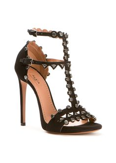 Azzedine Alaïa Sandals :: Azzedine Alaïa studded black suede sandals | Montaigne Market