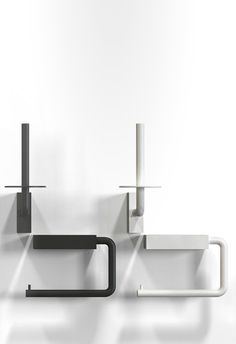 Toilet Roll Holder 3 and 4. Available in polished, brushed, white and black stainless steel. New Frost Display, available to shop at Astro Design Centre - Ottawa, Canada