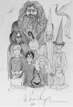 (Just a drawing done by hand in 1999 by JK Rowling.)