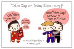 Which Doritos do you choose?    Captain America Civil War: Team Cap or Team Iron Man?