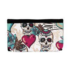 Purple Leopard Boutique - Women's Wallet Day of the Dead Skulls with Heart , $29.00 (http://www.purpleleopardboutique.com/womens-wallet-day-of-the-dead-skulls-with-heart/)