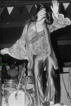 Janis Joplin (with Kozmic Blues Band), Labor Day weekend 1969, Texas International Pop Festival, Lewisville, TX.  Photo by my friend Steve Campbell.