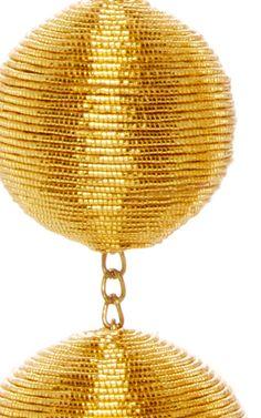 Les Bonbons Caramel Gold Ii Earrings by REBECCA DE RAVENEL Now Available on Moda Operandi