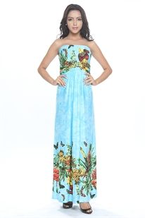 Feel like a princess in this Pineapple and Butterfly maxi dress from Stella