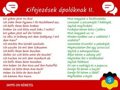 Német nyelvtanulás- kifejezések ápolóknak 2. rész | Németországi Magyarok German Language Learning, Germany, Let It Be, Marketing, Education, Conversation, Ali, Child, Learn German