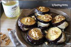 Keskonmangemaman?: Millefeuille d'aubergine au chèvre, miel et noix c...