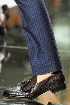 Ermenegildo Zegna. Brother, can you spare a dime? tassel loafers and pinstripe trousers