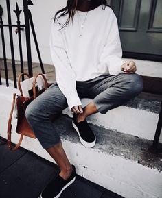 Black, white + grey.