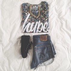 Lady's fashion hype shirt short shorts