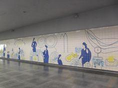 Júlio Resende   Estação / Station Bolhão   Metropolitano do Porto / Oporto Underground   2007 #Azulejo #JúlioResende #MetroDoPorto