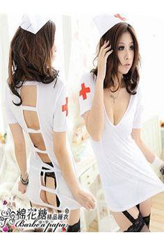 日本スタイルセクシー看護師コスチューム
