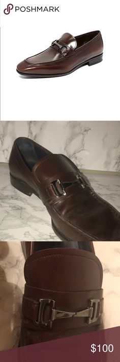 Salvatore Ferragamo but leather shoe Men's size 11D . Great condition. Minor scuff on front of right shoe as seen in pictures . Dark brown Salvatore Ferragamo Shoes