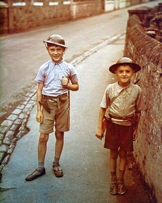 +~+~ Vintage Photograph ~+~+ Guernsey was the only British soil to be occupied by the Nazis during the war. This photograph of two Guernsey boys was taken shortly after the German invasion June Guernsey Channel Islands, Guernsey Island, Vintage Photographs, Vintage Photos, The Guernsey Literary, Battle Of Britain, We Are The World, British History, The Good Old Days
