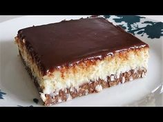 Bounty Kolac ne pece se No Bake za nepunih 10 minuta Pastry Recipes, Baking Recipes, Cake Recipes, Dessert Recipes, Coconut Desserts, Sweet Desserts, Sweet Recipes, Torte Recepti, Kolaci I Torte
