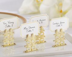 Double Happiness Place Card Holders (Set of 6) - By Kate Aspen: For holding up signs for cake flavors or other labels