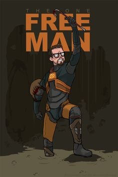 The One Free Man - Half-Life 2 by *Girl-on-the-Moon on deviantART