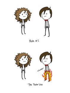 Doctor who's Pants on Fyre   A comic about what would happen if people's pants actually caught on fire when they lied.