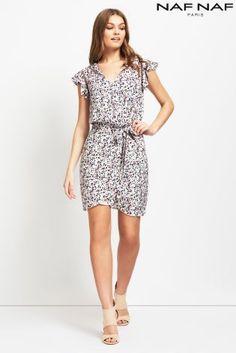 Kup dzisiaj online Sukienka Naf Naf midi, z nadrukiem w sklepie Next: Polska