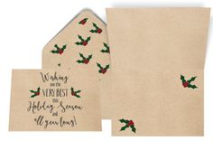 Holiday Season Card by pulpandponder on Etsy