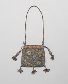 Date:     first quarter 17th century Culture:     British Medium:     Canvas embroidered with silk, silver, and silver-gilt thread Dimensions:     H. 4 1/2 to 5 1/4 x W. 4 1/2 to 5 3/4 inches (11.4 to 13.3 x 11.4 to 14.6 cm)