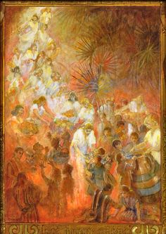 Look to Your Children- minerva teichert This is one of my favorites because I read the scriptures of Christ coming to the Americas and the angels surrounding the little children just after my appointment with the doctor that lead to all the sorrow of that weekend. The scriptures brought me comfort, as does this painting! ~Brittany