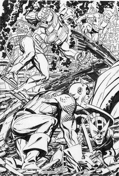 Avengers vs Darkseid by John Byrne