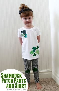 Shamrock Patch Pants and Shirt on www.girllovesglam.com