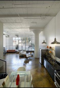 Liking this loft design & decor #lofts #loftstyle