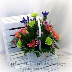 Spring has sprung basket a tisket a tasket send an easter basket