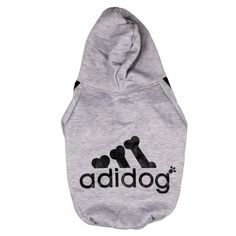 Manteau / Vêtement Hoodie pour chien Pet Coat (L, GRIS)